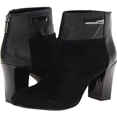 Calvin Klein Joelle Suede Lizard Nappa (Black) Women's Zip Boots