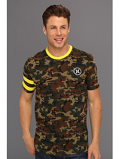 SALE! $16.99 - Save $13 on Hurley Block Party Deluxe Premium Tee (Camo Green) Apparel - 42.41% OFF $29.50