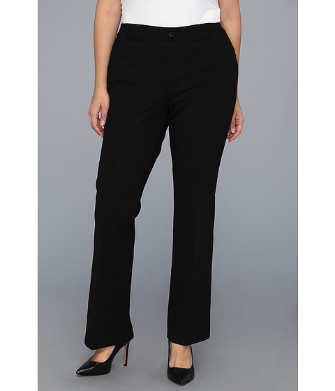 NYDJ Plus Size - Plus Size Ponte Trouser (Black) Women's Casual Pants