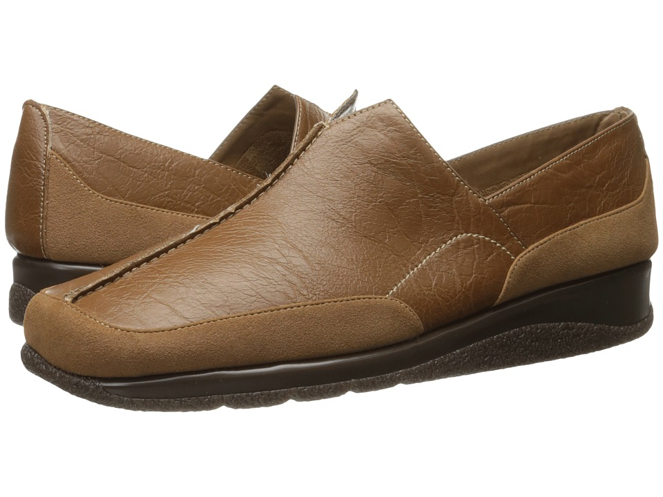 Aerosoles - Button Hole (Dark Tan Combo) Women's Slip on Shoes