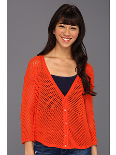 SALE! $36.99 - Save $53 on Lucky Brand Romona Cardigan (Mandarin Orange) Apparel - 58.67% OFF $89.50