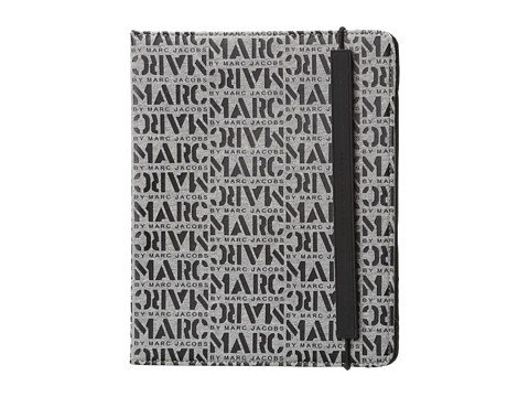 Marc by Marc Jacobs - Logomania Neoprene Tablet Book (Grey Melange) Computer Bags