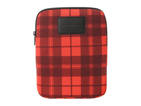 Marc by Marc Jacobs Mesh Plaid Tablet Case (Corvette Red Multi) Computer Bags