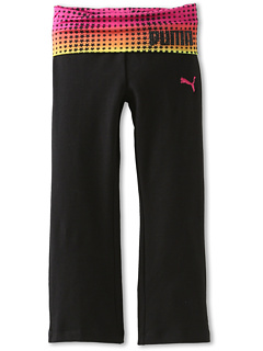 SALE! $19.71 - Save $14 on Puma Kids Foldover Printed Waist Yoga (Little Kids) (Black) Apparel - 42.03% OFF $34.00