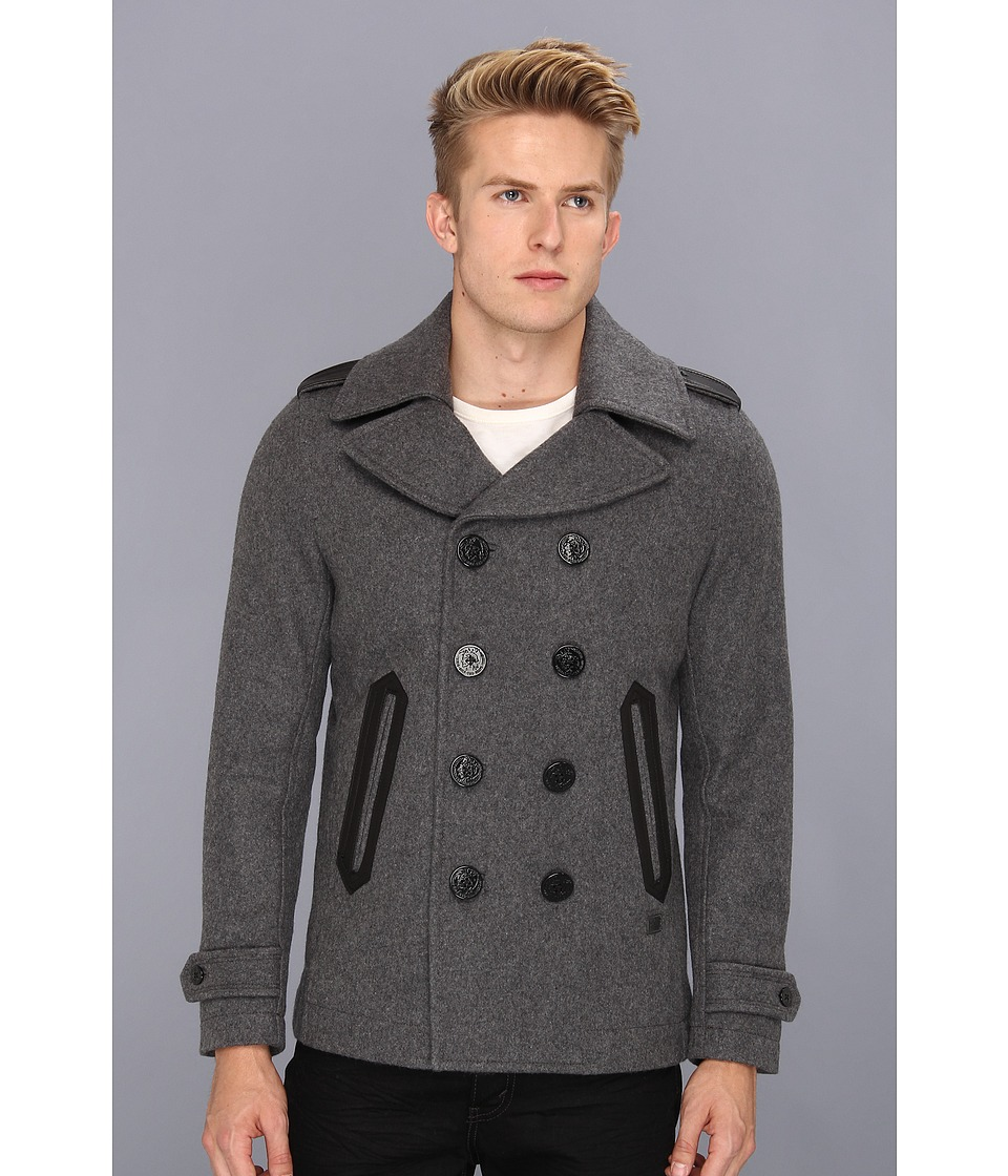 Diesel - Wede Peacoat (Grey) Men's Jacket