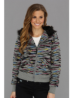 SALE! $16.99 - Save $43 on dollhouse Splash Zebra Fleece Hooded Zip (Zebra Rainbow) Apparel - 71.68% OFF $59.99