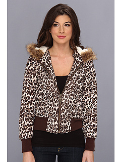 SALE! $24.99 - Save $35 on dollhouse Leopard Print Fleece Hooded Zip Coat (Brown Leopard) Apparel - 58.34% OFF $59.99