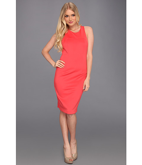 Jessica Simpson - Sporty Multi-Strap Pencil Dress w/ Circular Ring Back Detail (Pink) Women's Dress