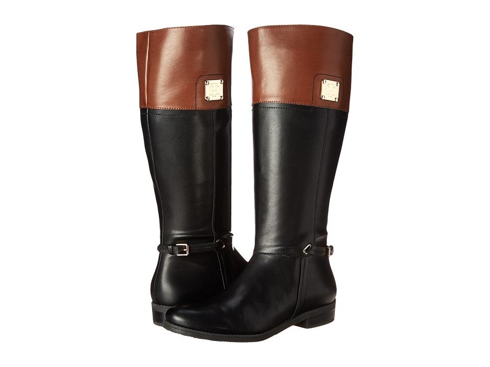 Tommy Hilfiger - Xenon2 (Black/Tan) Women's Zip Boots