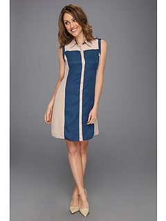 SALE! $36.99 - Save $81 on Manoukian Color Blocked Shirt Dress (Deepteal Combo) Apparel - 68.65% OFF $118.00