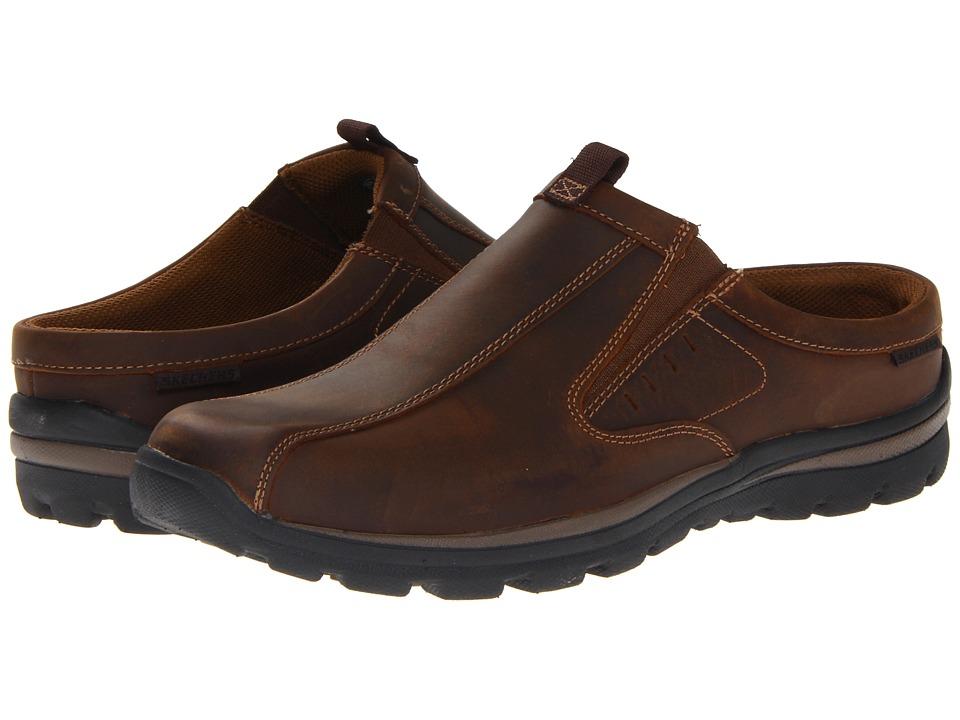SKECHERS - Relaxed Fit Superior-Kane (Dark Brown) Men's Slip on Shoes