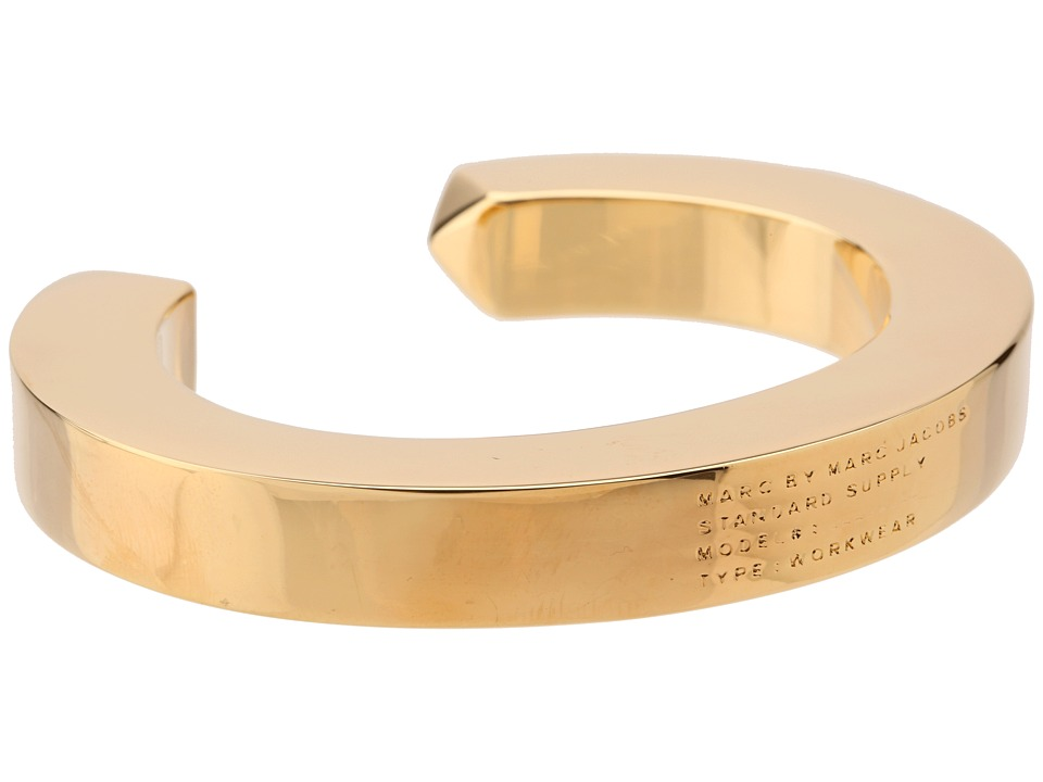 Marc by Marc Jacobs - Standard Supply Plaque Simple Cuff (Oro) Bracelet