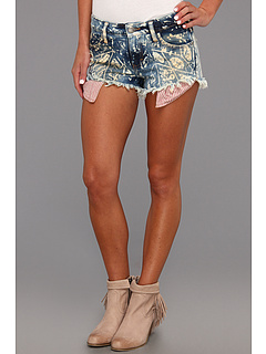 SALE! $49.99 - Save $38 on Free People Shibori Dolphin Hem Cutoff Short (Indigo) Apparel - 43.19% OFF $88.00