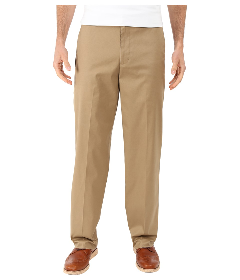 Dockers Men's - New Iron Free Khaki D3 Classic Fit Flat Front (Dark Wheat) Men's Casual Pants