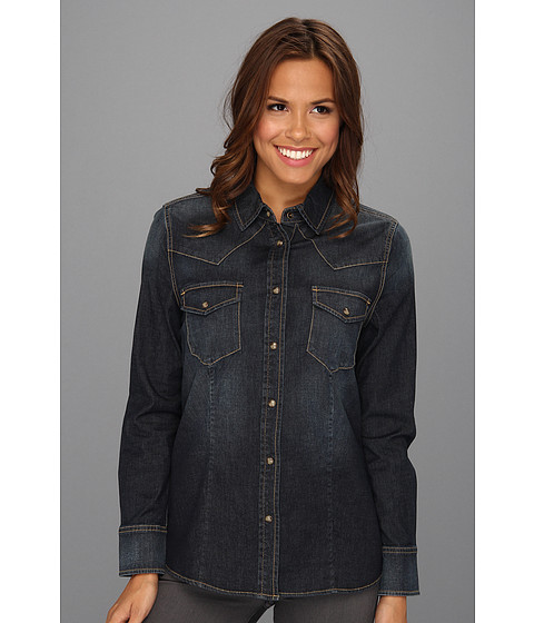 Jag Jeans - Rio Semi-Fitted Denim Shirt (Dark Antique) Women's Long Sleeve Button Up