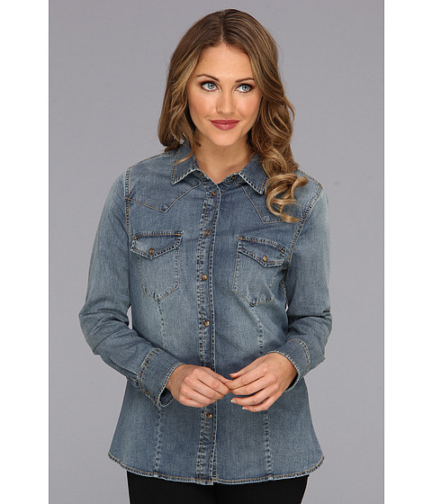 Jag Jeans - Rio Semi-Fitted Denim Shirt (Pure Vintage) Women