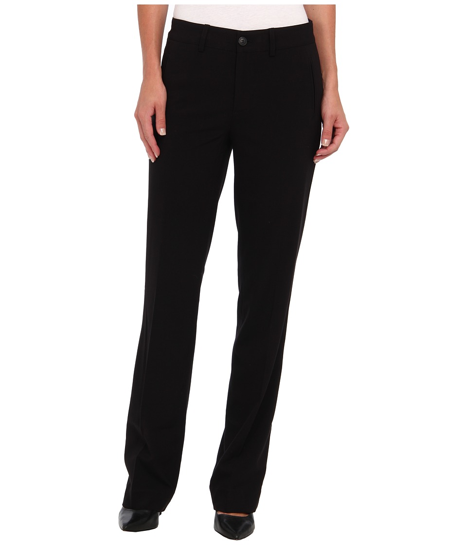 NYDJ - Refined Stretch Straight Leg Trouser (Black) Women's Dress Pants