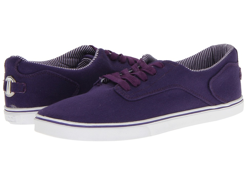 radii Footwear - Noble Low (Purple/White Canvas) Men's Lace up casual Shoes