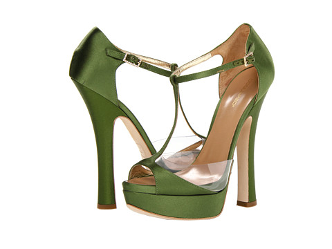 DSQUARED2 - Louise Open Toe (Raso Verde) High Heels