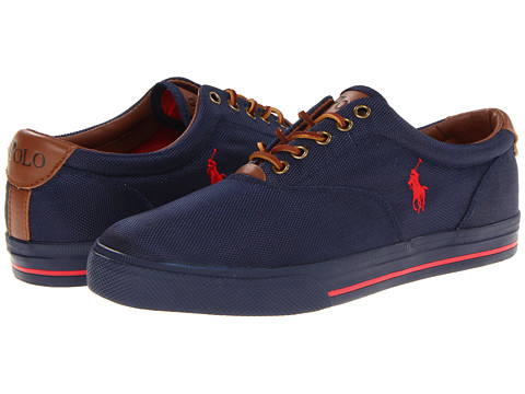 Polo Ralph Lauren - Vaughn (Newport Navy/RL2000 Red) Men's Lace up casual Shoes