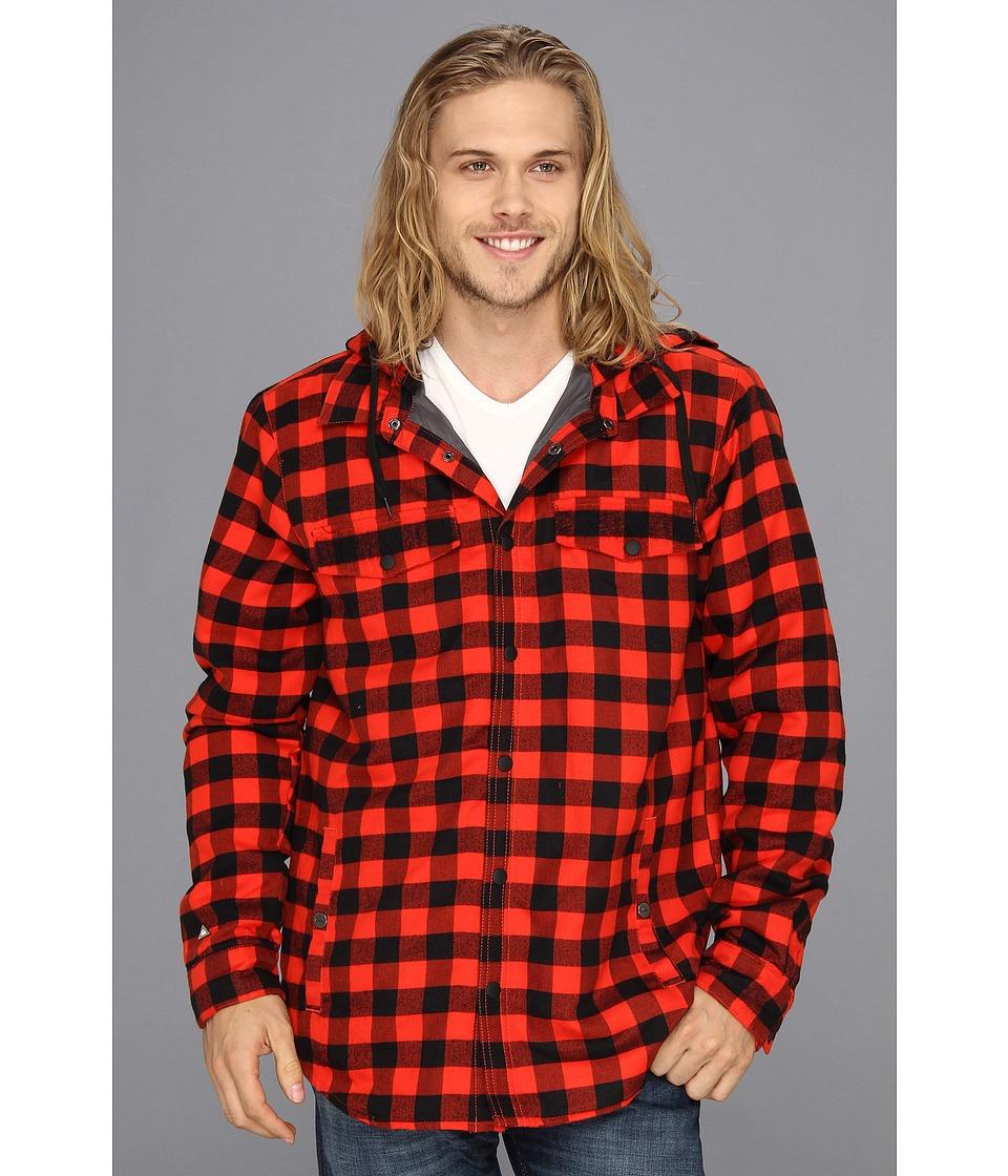 Quiksilver Mix Riding Shirt Mens Coat (Red)