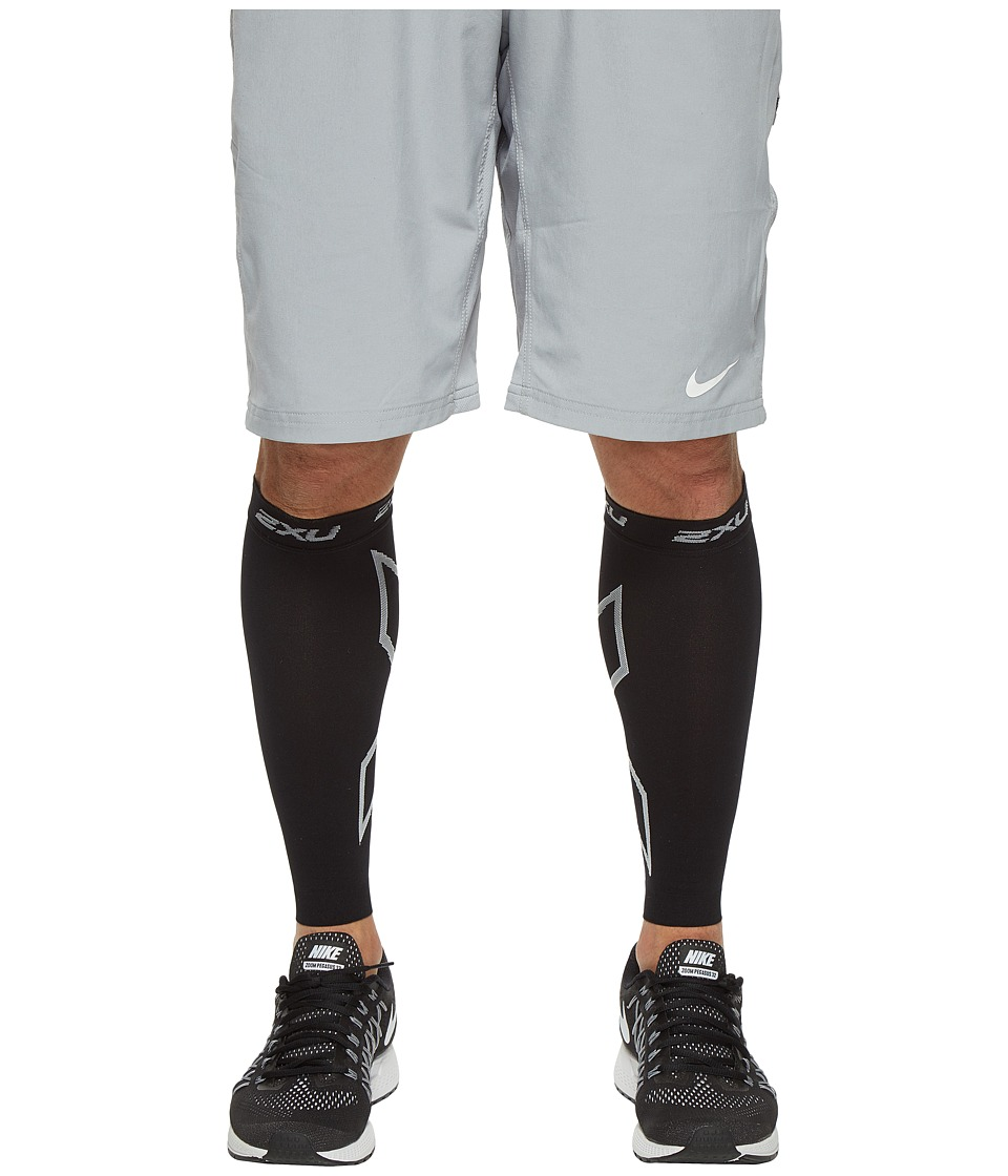 2XU - Compression Calf Sleeve (Black/Black) Athletic Sports Equipment
