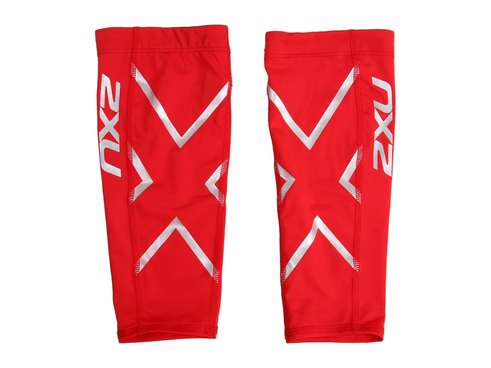 2XU - Non-Stirrup Calf Guard (Red/Red) Athletic Sports Equipment