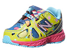 New Balance Kids 890 Splatter (Infant/Toddler) (Blue/Yellow/Pink)
