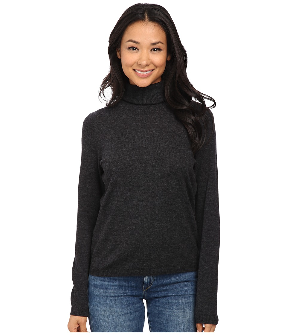 Pendleton - Classic Turtleneck Sweater (Charcoal Heather) Women's Long Sleeve Pullover