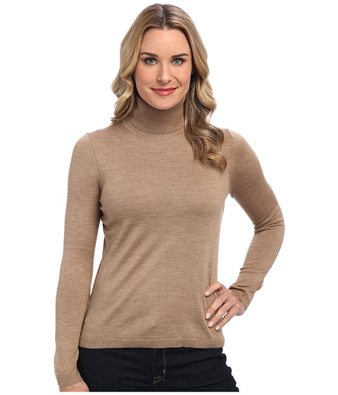 Pendleton - Classic Turtleneck Sweater (Camel) Women's Long Sleeve Pullover