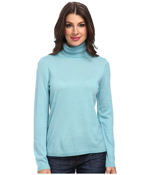 Pendleton - Classic Turtleneck Sweater (Skylight) Women's Long Sleeve Pullover