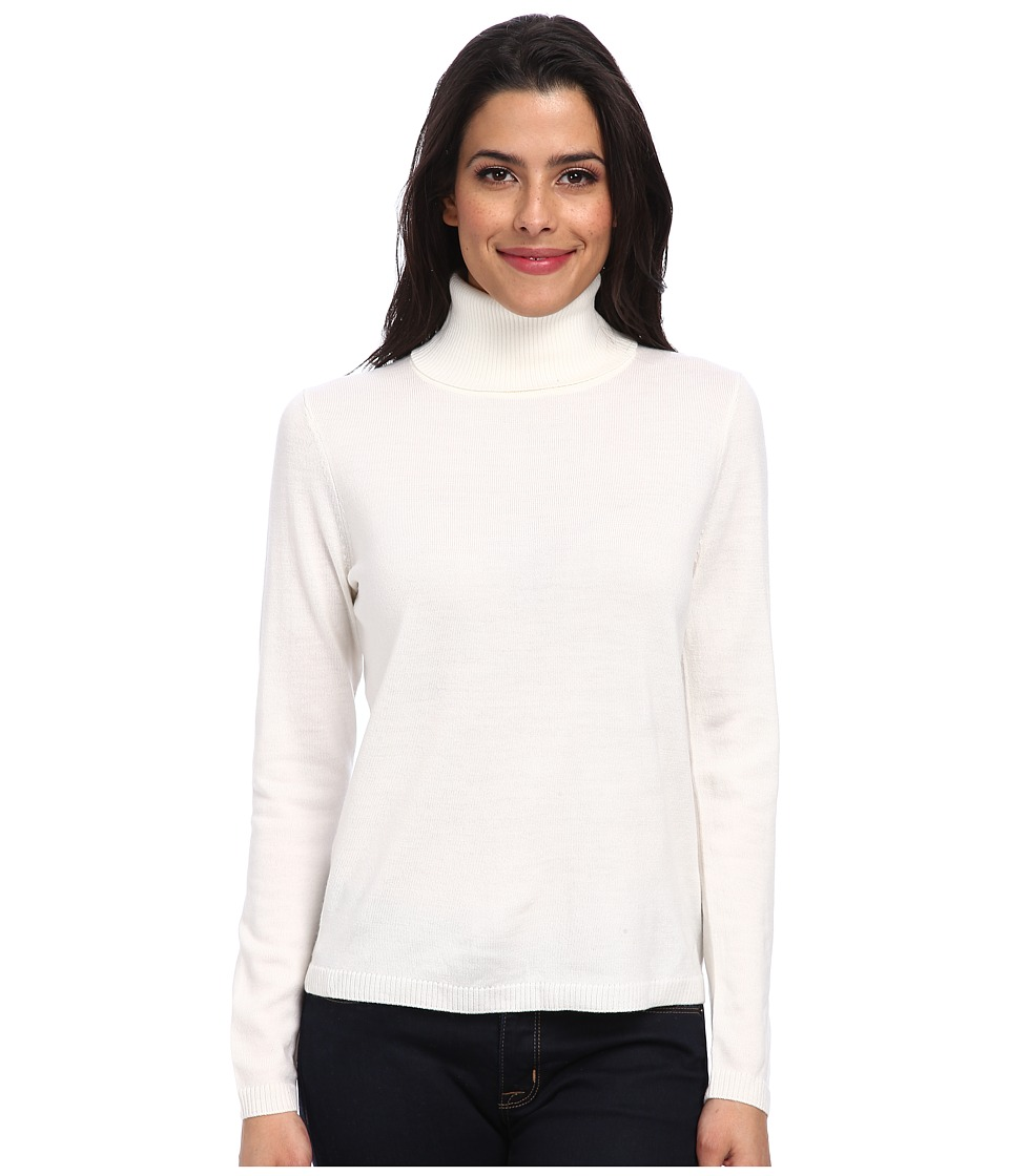 Pendleton - Classic Turtleneck Sweater (Ivory) Women's Long Sleeve Pullover
