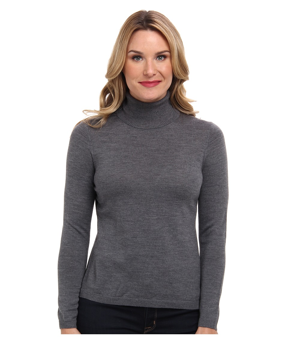 Pendleton - Classic Turtleneck Sweater (Grey Heather) Women's Long Sleeve Pullover