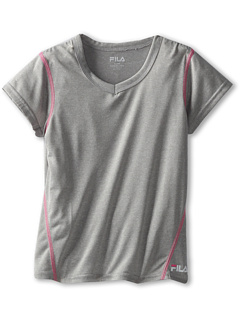 SALE! $11.25 - Save $14 on Fila Kids Heathered Tee (Big Kids) (Heather Grey) Apparel - 55.00% OFF $25.00
