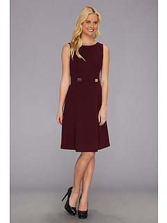 SALE! $64.99 - Save $63 on Tahari by ASL Greglee Sleeveless Crepe Dress (Wine) Apparel - 49.23% OFF $128.00