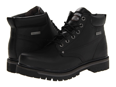 SKECHERS - Tom Cats Bully (Black) Men's Work Boots