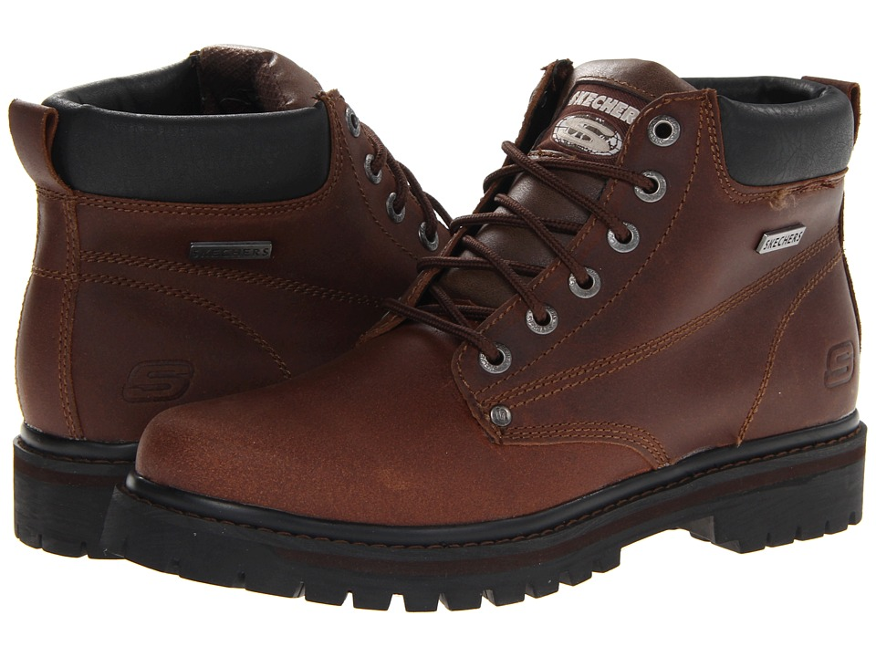 SKECHERS - Tom Cats Bully (Dark Brown) Men's Work Boots