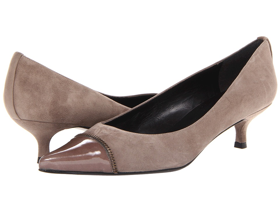 Stuart Weitzman - Ziptip (Neutral Suede) Women's 1-2 inch heel Shoes