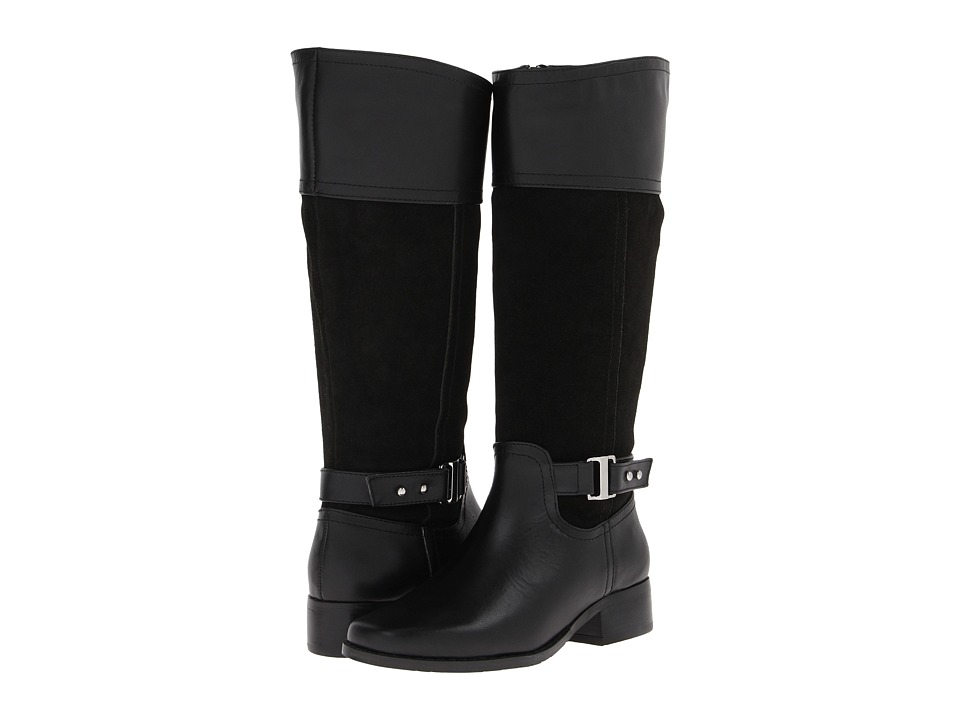 Fitzwell - Mesquite (Black Leather/Black Suede) Women's Dress Zip Boots