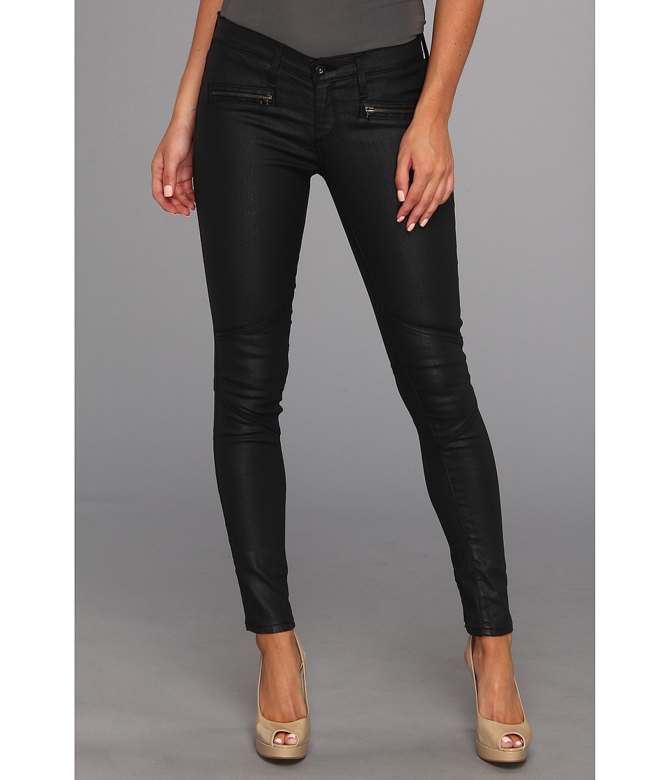AG Adriano Goldschmied - The Moto Legging in Black Slick (Black Slick) Women's Jeans