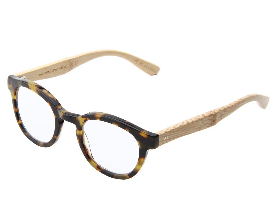 eyebobs - Gone Fishing Readers (Tortoise/Bamboo Temples) Reading Glasses Sunglasses