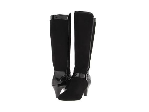 Circa Joan & David - Carita (Black Suede/Patent) Women's Boots