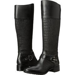 Circa Joan David Takara (Black Leather Suede) Footwear