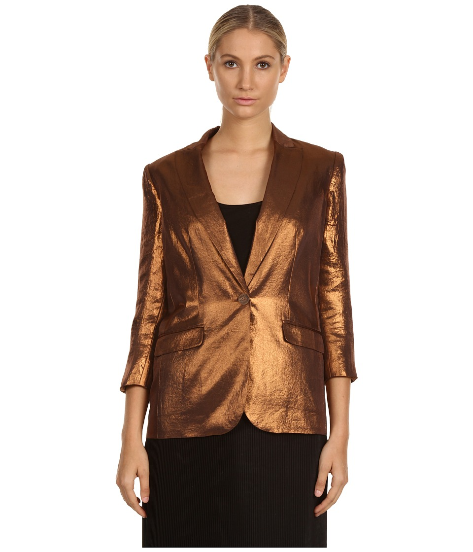 Armani Jeans - Polyester Jacket (Bronze) Women's Jacket