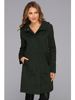 SALE! $81.99 - Save $43 on DKNY Single Breasted Hooded Duffel Coat (Army Green) Apparel - 34.41% OFF $125.00
