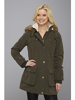SALE! $66.99 - Save $68 on DKNY Anorak w Sherpa Trim Coat (Military Green) Apparel - 50.38% OFF $135.00