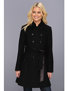 SALE! $99.99 - Save $80 on DKNY Color Block Trench Coat 14200 Y3 (Black) Apparel - 44.45% OFF $180.00