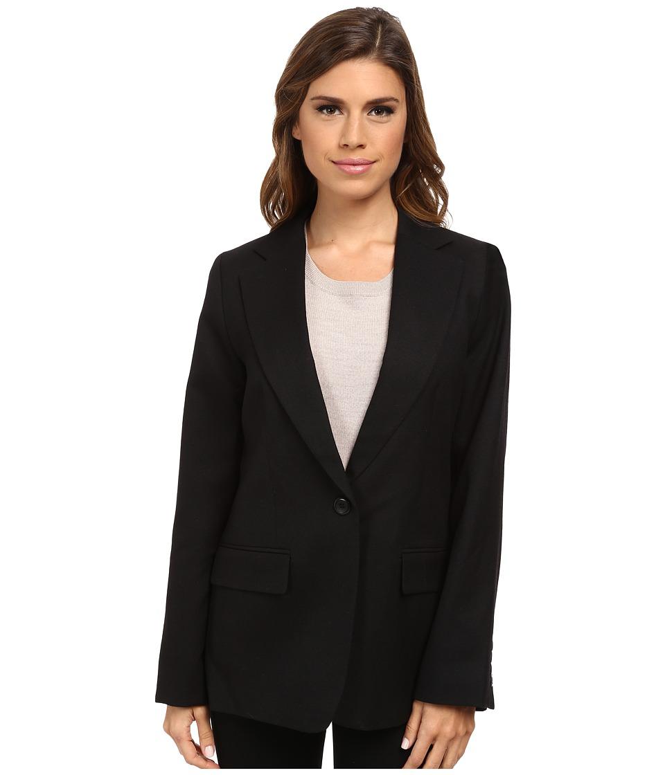 Pendleton - One-Button Blazer (Black Worsted) Women's Jacket