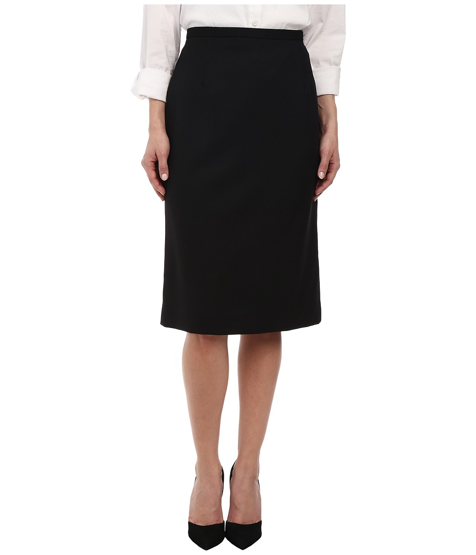 Pendleton - Petite Lana Skirt (Black Worsted) Women's Skirt