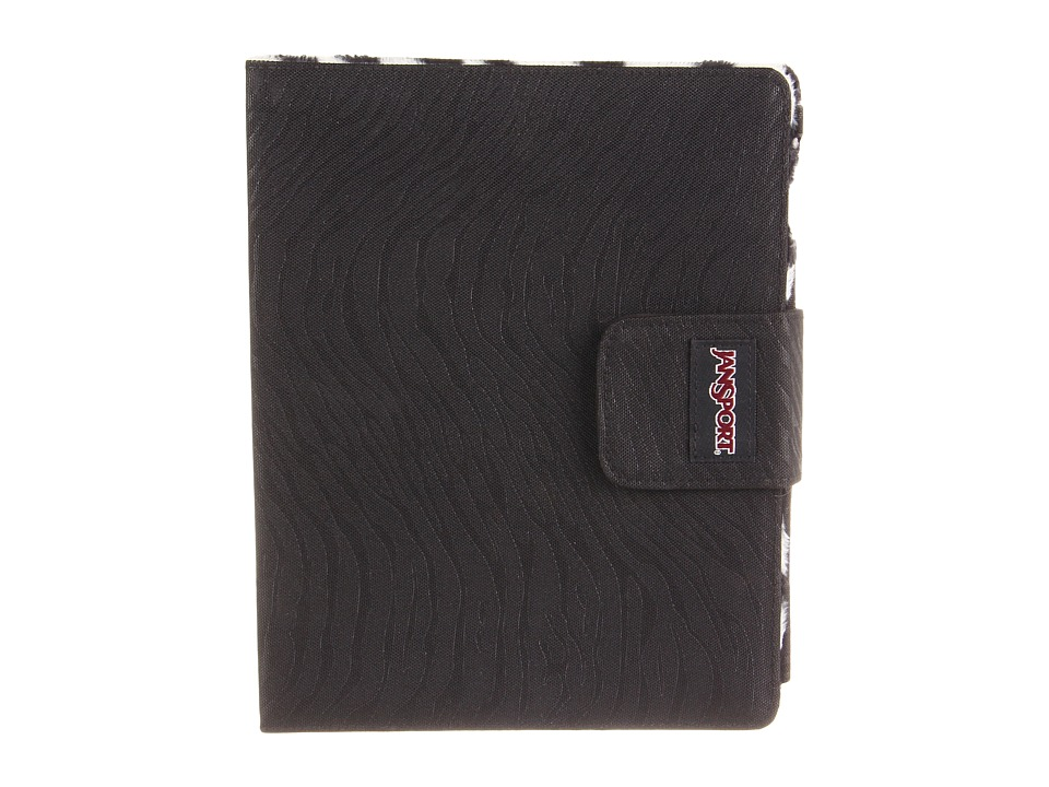 JanSport - 2.0 Folio For iPad(R) (Black Gloss Zebra) Wallet